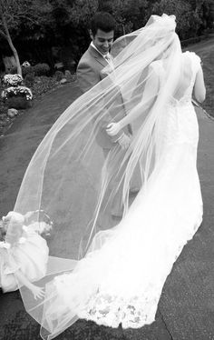 Cathedral Wedding Veil by kerstirae on Etsy, $100.00
