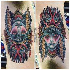 Flip face devil woman by Dusty Neal (@ dustyneal)