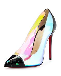 Debout+Disco+PVC+Red+Sole+Pump,+Multi+by+Christian+Louboutin+at+Neiman+Marcus.