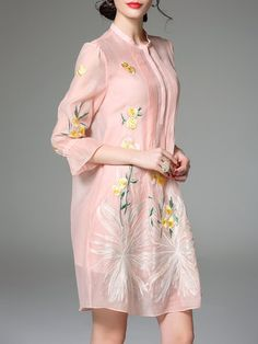 Pink Frill Sleeve Floral Midi Dress