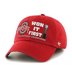 separation shoes 1aa0c fa08c Ohio State Buckeyes 2015 College Football Champions First Franchise Red Hat  (S)  47