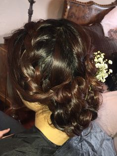 Carrie's bridesmaid braided updo
