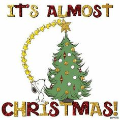 It's almost Christmas ! With Snoopy.