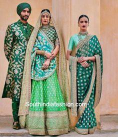 Ideas Indian Bridal Lehenga Green Wedding Website For 2019 Lakme Fashion Week, India Fashion, Asian Fashion, Fashion Usa, Fashion Online, High Fashion, Indian Wedding Outfits, Indian Outfits, Indian Clothes