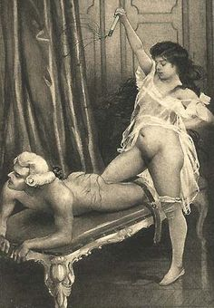 Illustration from Fanny Hill: a flagelation scene. Edouard-Henri Avril, 1843–1928.