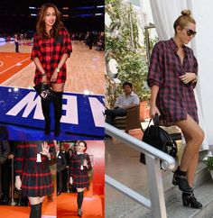 plaid hot look