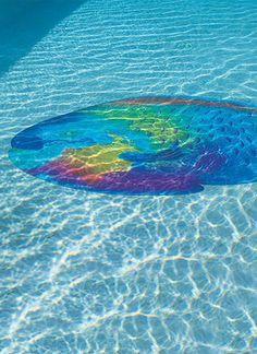 Tropical Fish Pool Mat.