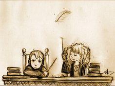 #HarryPotter #Ron #Hermione #WingardiumLeviosa