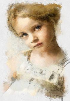 портрет акварель - Поиск в Google