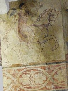 Medieval wall painting St Agatha's Church Easby 004 by rhyddid35, via Flickr Painted Walls, Painted Ceilings, Ceiling Painting, Medieval Furniture, Building Images, Castle Wall, Floor Art, Medieval Castle, Wall Decor