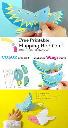 create a bird that will flap its wings when you tug on its tail. An empty bird template to color in the bird of your imagination.