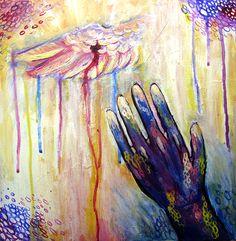 Title: Lift my Hands By: Samantha Bell-Koch School: University of Toledo High School Grad Year: 2013 Description: 12x12 acrylic & gouache on wood panel
