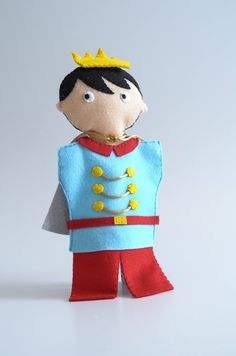 Prince - hand puppet, puppetry, puppet, fairy tale, Prince and princess - by KinkinPuppets on Etsy