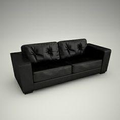free 3d models - nice high quality free 3d sofa