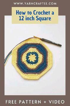 Learn To Crochet, Diy Crochet, Crochet Stitches, Crochet Patterns, Number 12, Yarn Crafts, Free Pattern, Crochet Earrings, Diy Projects