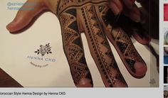 Moroccan Style Henna Design by Henna CKG - YouTube