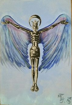 cristus is werk van mijn vader. 1956. vleugels van mij 2015