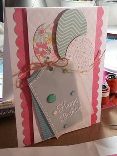 Made a birthday card for my friend using my SSS kit (I think February). Inspiration was a card by Debby Hughes (which is on the inspiration sheet included with the February SSS kit.