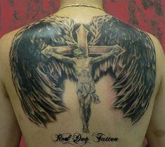 jesus tattoo designs with cross Family Tattoo Designs, Wing Tattoo Designs, Tattoo Designs And Meanings, Family Tattoos, Tattoos With Meaning, Celtic Tattoos For Men, Cross Tattoo For Men, Tattoos For Guys, Cross Tattoos