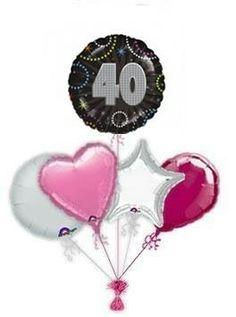 """Mark the special day with wonderful """"A Time To Party birthday balloon delivery or balloon bouquets. Fabulous helium filled birthday balloons by post delivered by free balloon delivery. Birthday Balloon Delivery, 60th Birthday Balloons, 65th Birthday, Balloon Gift, Balloon Bouquet, Christmas Ornaments, Party, Pink, Bouquets"""