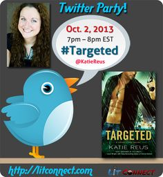 When: Tuesday, October 2, 2013; 7–8pm EST  What: Join USA Today Bestselling Author Katie Reus for an hour long party where she'll be talking about Targeted, the first book of the hot new series, Deadly Ops!  Hashtag: #Targeted  Host: @katiereus | Moderated by: @lit_connect