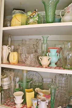 Love this vase cupboard that belongs to Susan Branch.
