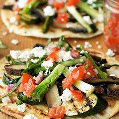 Grilled-Vegetable Tostadas #SkinnyGeneClean