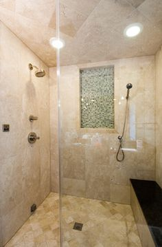 It's all about the details in the luxurious walk in shower. #homeinspiration