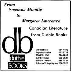Remember bookstores? Newspaper advertisement, January 1975