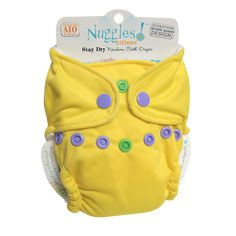 Pineapple Dapple - Bittees Stay-dry Newborn AIO Diaper – Nuggles Designs Canada - This is a newborn all in one cloth diaper in yellow - yellow diaper #clothdiapers #newborndiapers