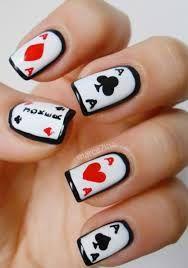Resultado de imagen para decorado de uñas poker