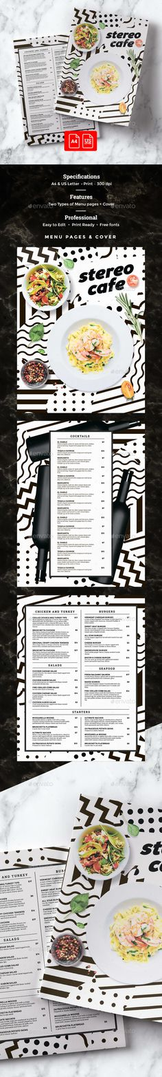 Restaurant Menu — Photoshop PSD #creative #dinner • Download ➝ https://graphicriver.net/item/restaurant-menu/19985709?ref=pxcr