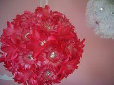 Hanging Flower Balls for Weddings, Baby Girl Nursery Decor, Baby Shower Decorations, etc.. $25.00, via Etsy.