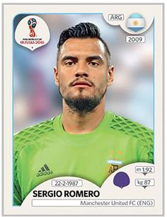 262 - Sergio Romero We'll miss you😭 World Cup Russia 2018, World Cup 2018, Fifa World Cup, Soccer Cards, Baseball Cards, Steven Gerrard, Premier League, Argentina World Cup, Jersey Atletico Madrid