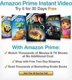 Amazon Prime Instant Video: Try It for 30 Days Free