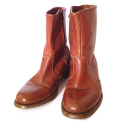 Men's Leather Zip Boots | Era Vintage