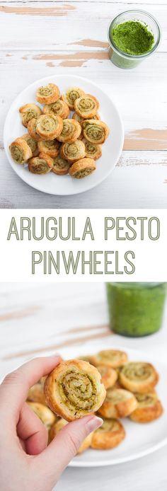 Vegan Arugula Pesto Pinwheels | ElephantasticVegan.com #vegan #pinwheels #pesto #arugula #snack #appetizer via @elephantasticv
