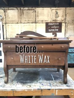 How To Easily Apply White Wax On Wood Furniture, diy furniture redo, Painting Wood Furniture White, Raw Wood Furniture, Diy Furniture Redo, Refurbished Furniture, Repurposed Furniture, Furniture Projects, Furniture Making, Modern Furniture, Furniture Plans