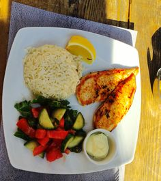 Healthy chicken with rice!