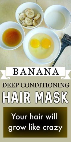 Your hair will GROW like CRAZY With THIS Banana deep conditioning mask ! Hair Mask For Damaged Hair, Hair Mask For Growth, Natural Hair Mask, Diy Hair Mask, Natural Hair Styles, Hair Masks, Natural Beauty, Banana Hair Mask, Banana For Hair