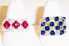 A great buy for Swarovski crystal rings. Two completely different patterns for limitless color combinations.
