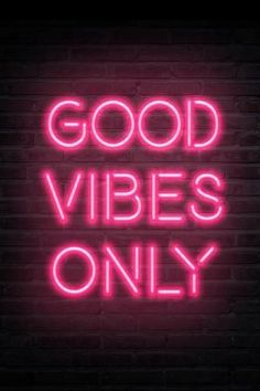 size: Art Print: Good Vibes Only - Pink Neon :