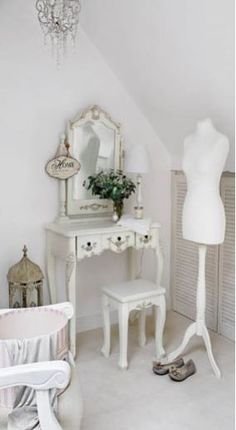 Dressing table and a dress form, oh my.