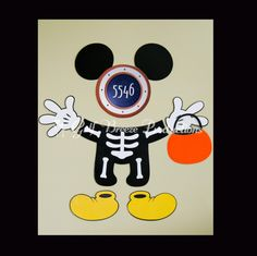 Mickey Mouse with Skeleton Costume Magnet for Cruise Door by GulfBreezeProduction on Etsy