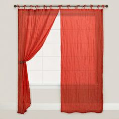 World Market -- Cranberry Crinkle Voile Curtain