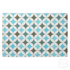 Blue Gray Diamond Circle Pattern Design Kitchen Towels #kitchentowels #kitchen #towels #gifts #zazzle #MadeintheUSA #prettypatterngifts www.PrettyPatternGifts.com