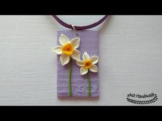 ~JustHandmade~ Polymer clay (fimo) daffodil pendant tutorial - YouTube