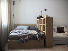 Зонирование комнаты в однокомнатной квартире