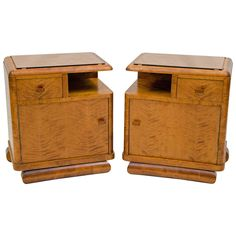 Pair of Nightstands, French Art Deco | From a unique collection of antique and modern night stands at https://www.1stdibs.com/furniture/tables/night-stands/