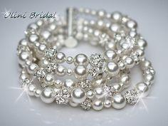Bridal ISABELLA Deluxe White Swarovski by OliniBridalJewelry, $60.00